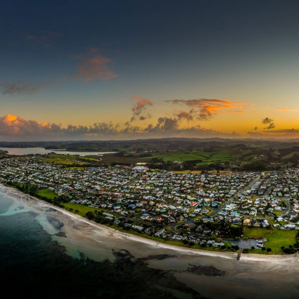 Drone Photograph Sunset From Snells Beach