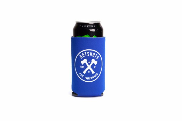 Light Blue Hotshots Axe Throwing Koozie