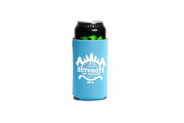 Blue Hotshots Axe Throwing Koozie