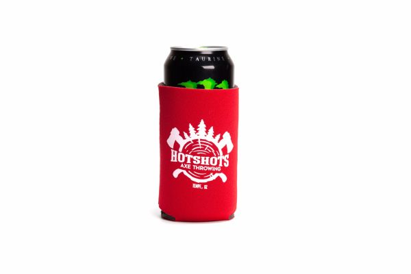Red Hotshots Axe Throwing Koozie