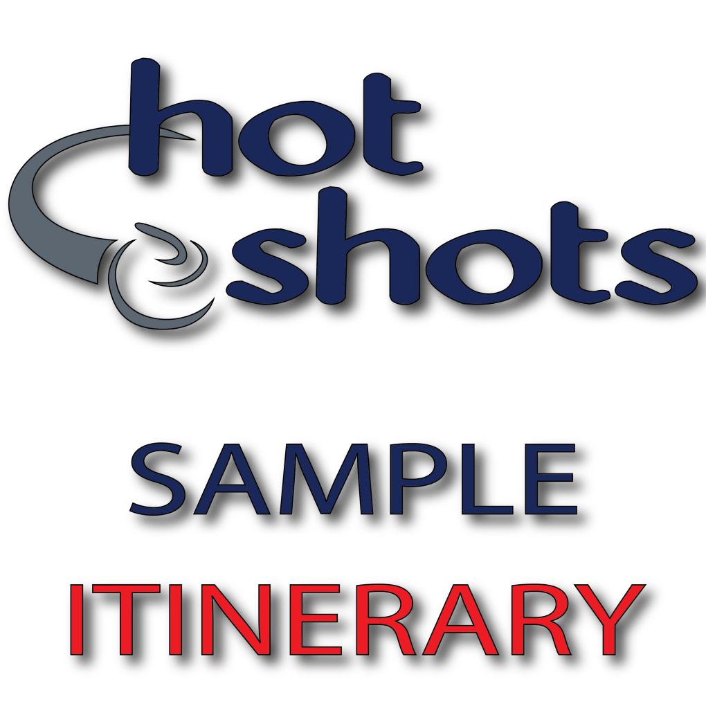Sample Itinerary - Hot Shots Curling Camp