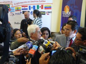 Phydias sendo entrevistado na ULAN