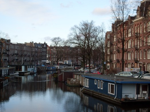 View on canal in Amsterdam Oud-West