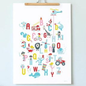Alphabet poster from Debbie Debster