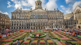 National Tulip Day Dam square Amsterdam