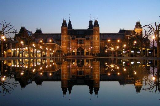 Rijksmuseum at Museumplein Amsterdam