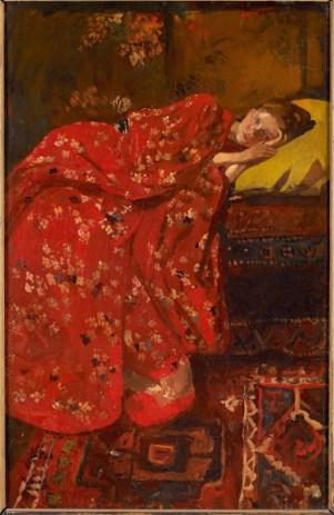 A girl in kimono by Breitner