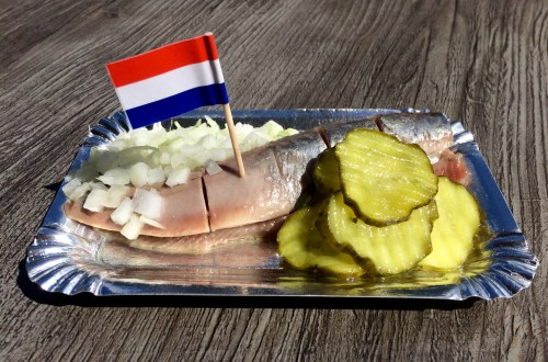 Dutch herring with onions and pickles