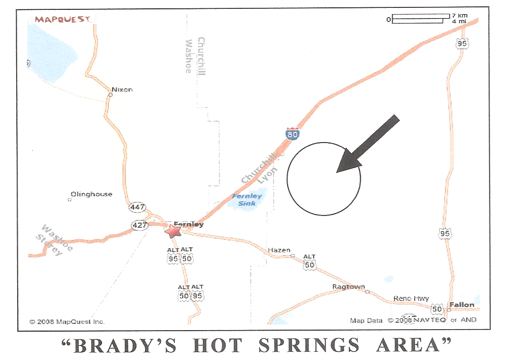 Undeveloped Nevada Hot Springs Map