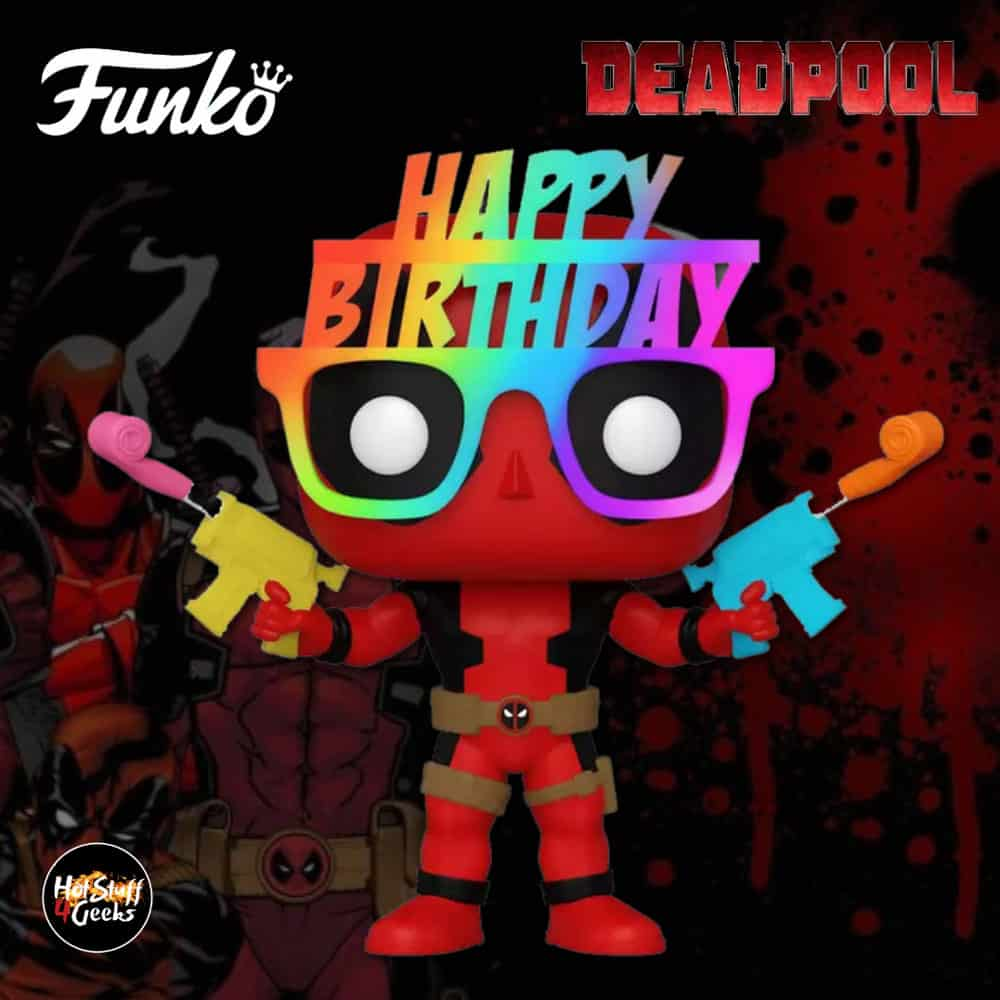 2021 New Deadpool 30th Birthday Glasses Deadpool Funko Pop