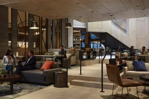 "Marriott Hotels, the flagship brand of Marriott International, the world's largest lodging company today, celebrated the grand opening of its M Beta at Charlotte Marriott City Center, an innovation lab that functions as the world's first hotel in ""live beta."" (PRNewsFoto/Marriott Hotels)"