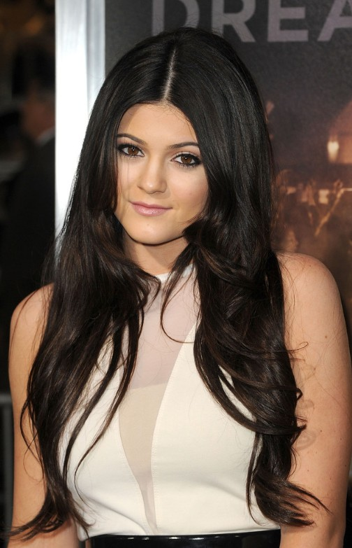 long-black-center-part-hairstyle