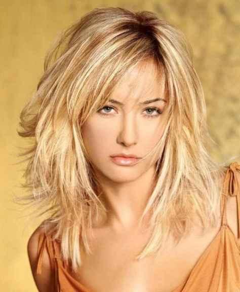 Blonde Layered Medium Haircuts