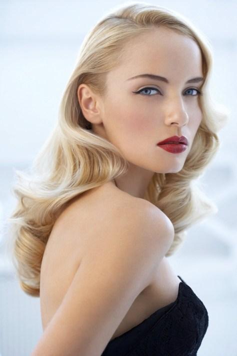 Blonde Retro Wedding Hairstyles