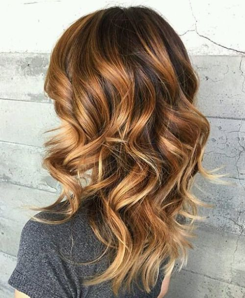 Colored Medium Wavy Hairstyles