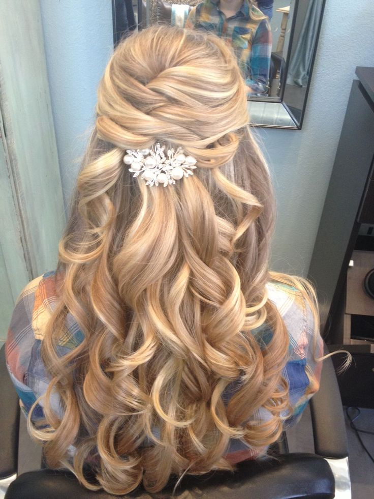 Half Up Down Prom Hair
