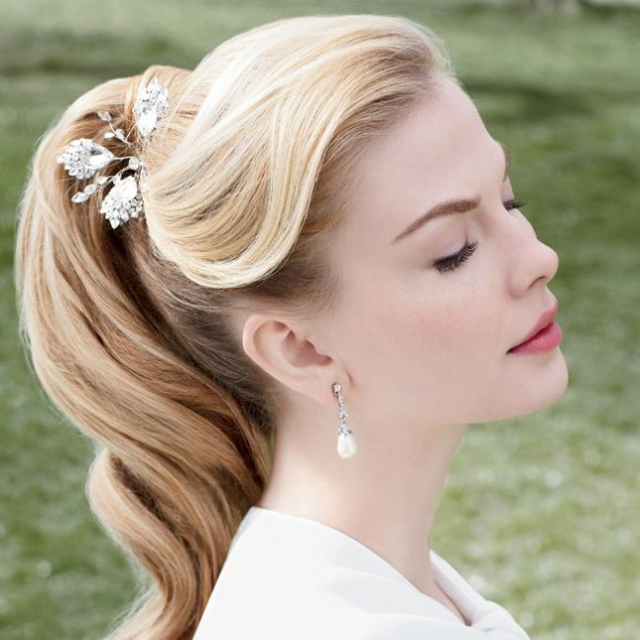 Ponytail Hairstyle for Wedding