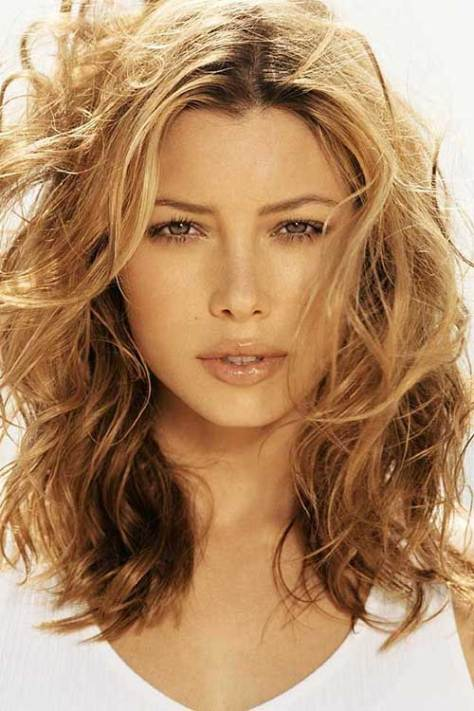 Blonde Medium Hair with Curls