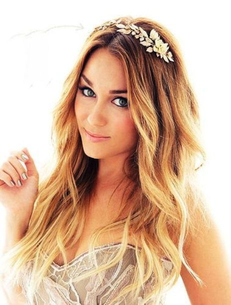 Lauren Conrad's Wedding Hairstyle With Accessory