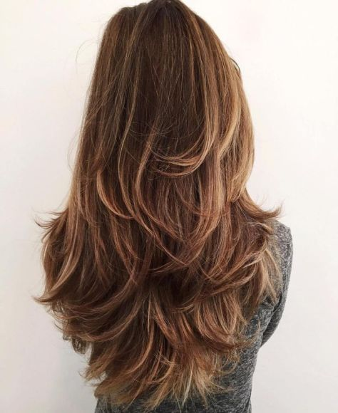 Long Shaggy Layered Hairstyle