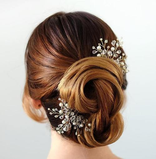 Twisted Bridal Updo with Hair Pieces