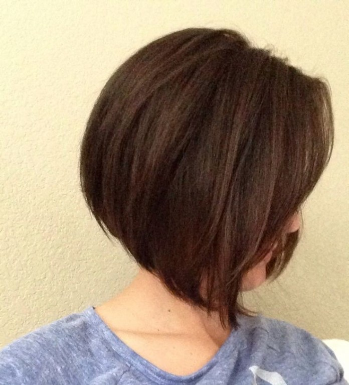 A Line Bob with Side Swept Bangs