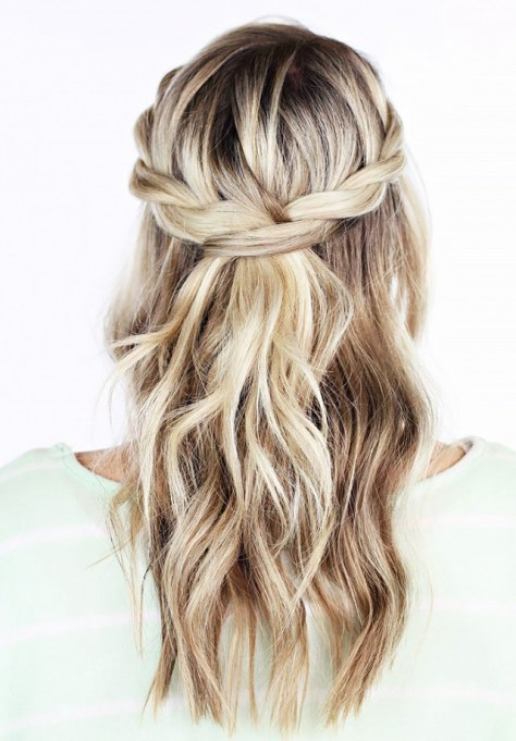 Braided with Loose Hair