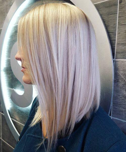 Silver Hair Bob Cut