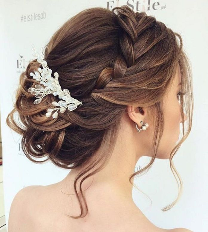 Braided Updo with Accessories
