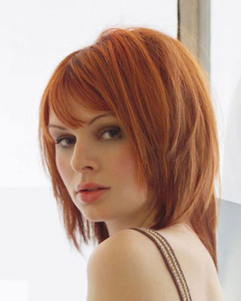 Copper Hair with Blunt Bob