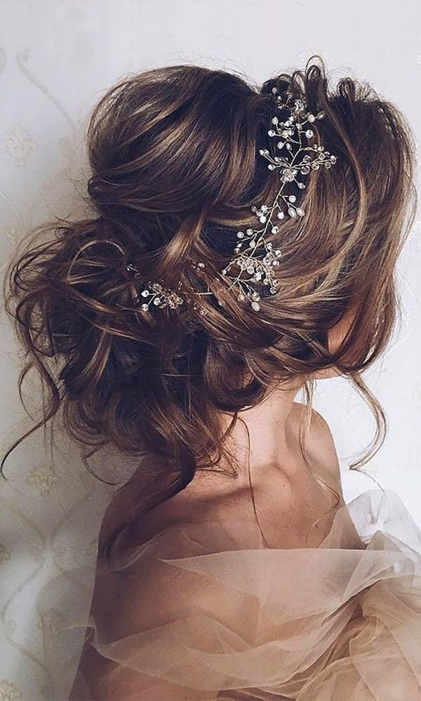 Messy Updo with Accessories