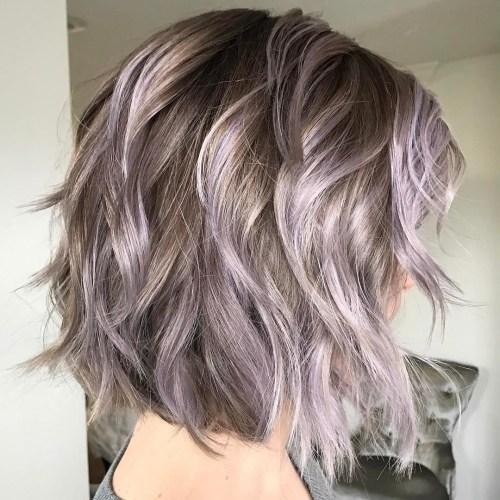 Purple Wavy Bob