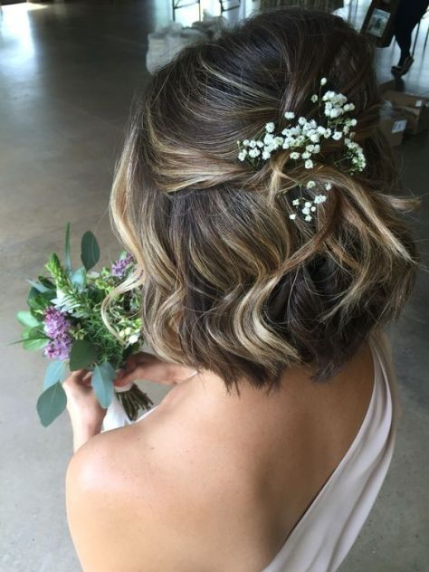 Short Curly Hair with Half up Twist