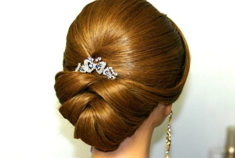 Simple Updo for Wedding