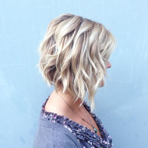 Tapered Wavy Bob