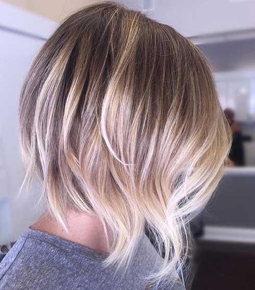 Blonde Balayage Short Wavy Hair