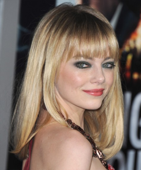 Blonde Straight Hair with Bangs