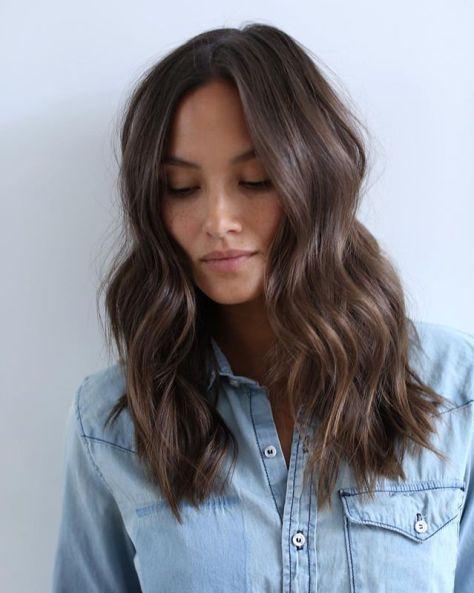 Brunette Wavy Hair