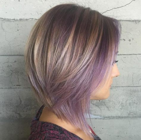 Choppy Bob with Lilac Highlights