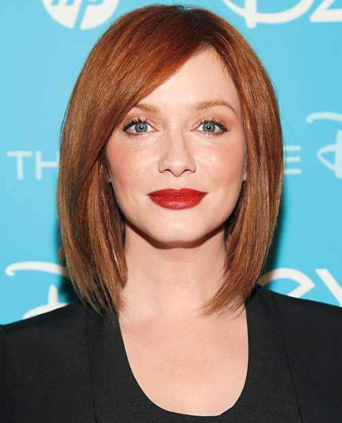 Christina Hendricks's Straight Red Bob