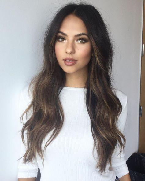 Dark Brown Hair with Natural Highlights