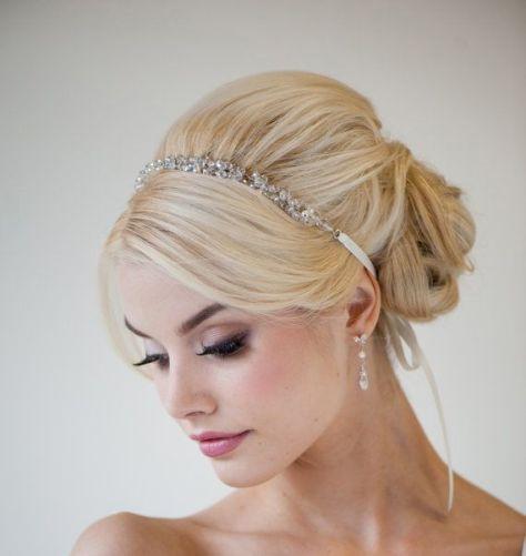 Elegant Updo with Ribbon Headband