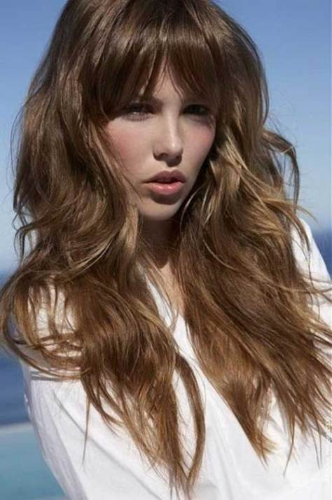 Long Haircut with Rounded Fringe