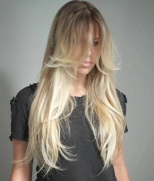 Long Layered Blonde Balayage Hair