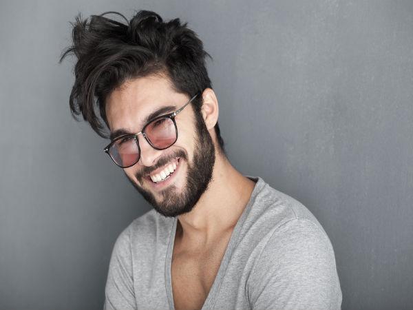 Messy Short Haircut with Beard