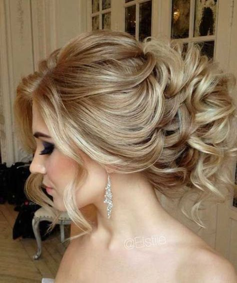Messy Updo with Loose Curls