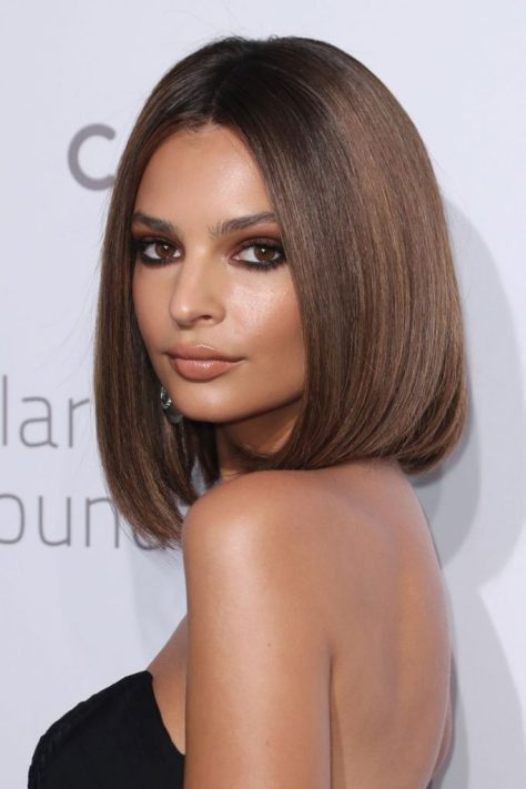 Middle Parted Sleek Bob
