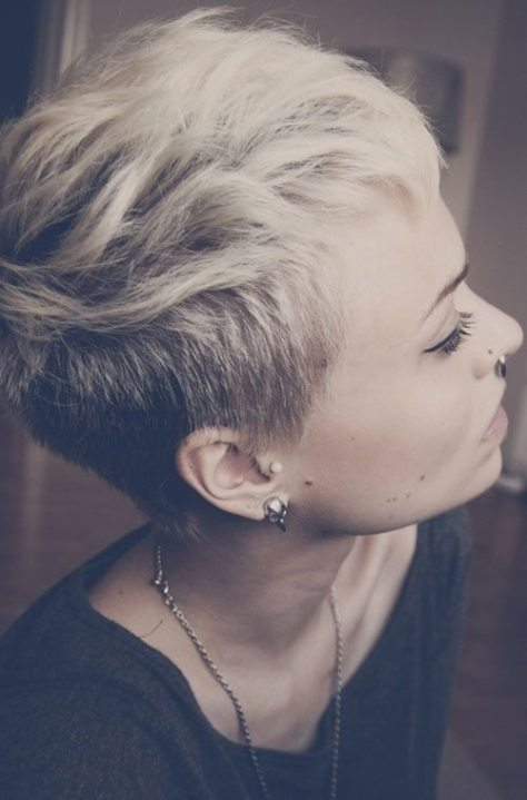 Shaved Blonde Haircut