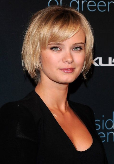 Sleek Bob with Side Swept Bangs