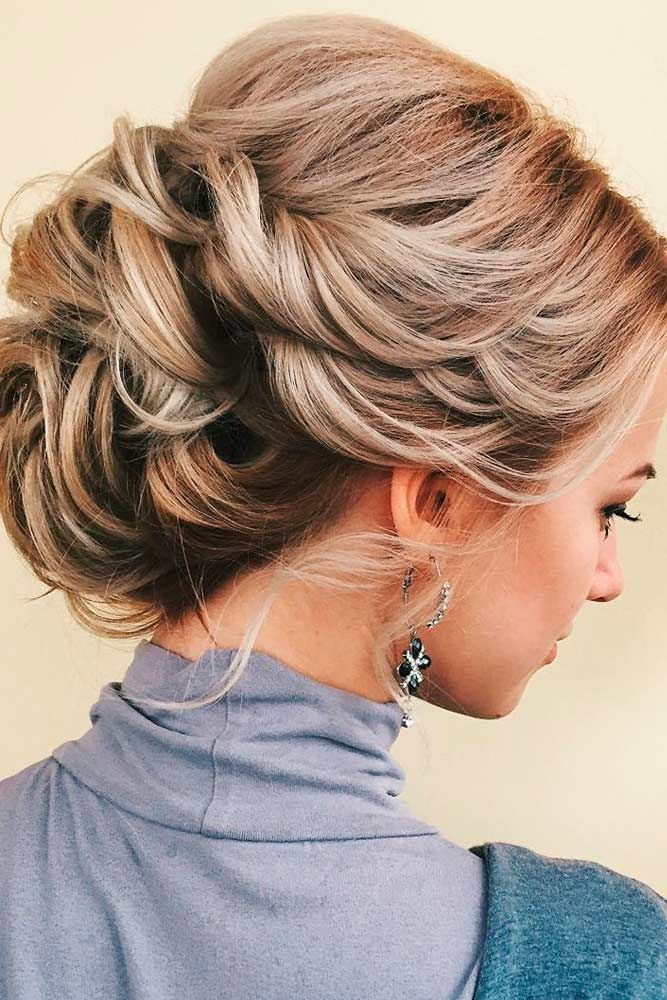 Updo with Twisted Braids
